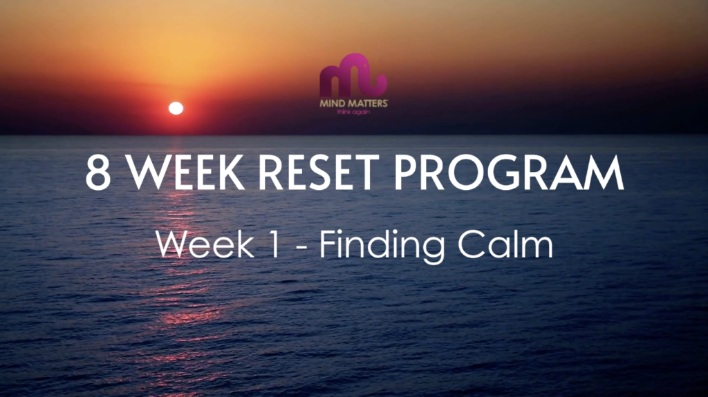8 week reset week 1